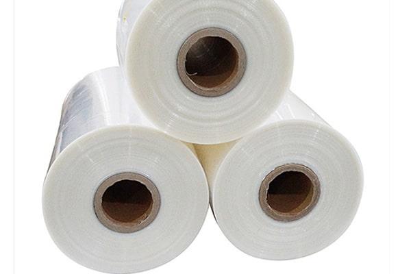 Three rolls of POF shrink film